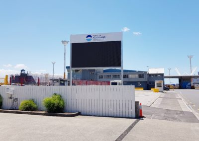 Ports of Auckland LED screen